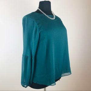 Apt 9 Emerald Bell Sleeved Blouse Size 1X